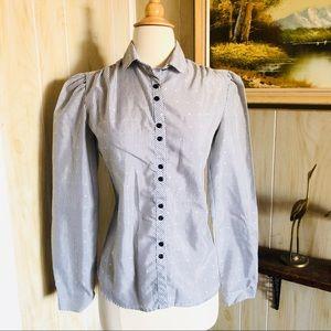 Pinstripe Vintage Blouse